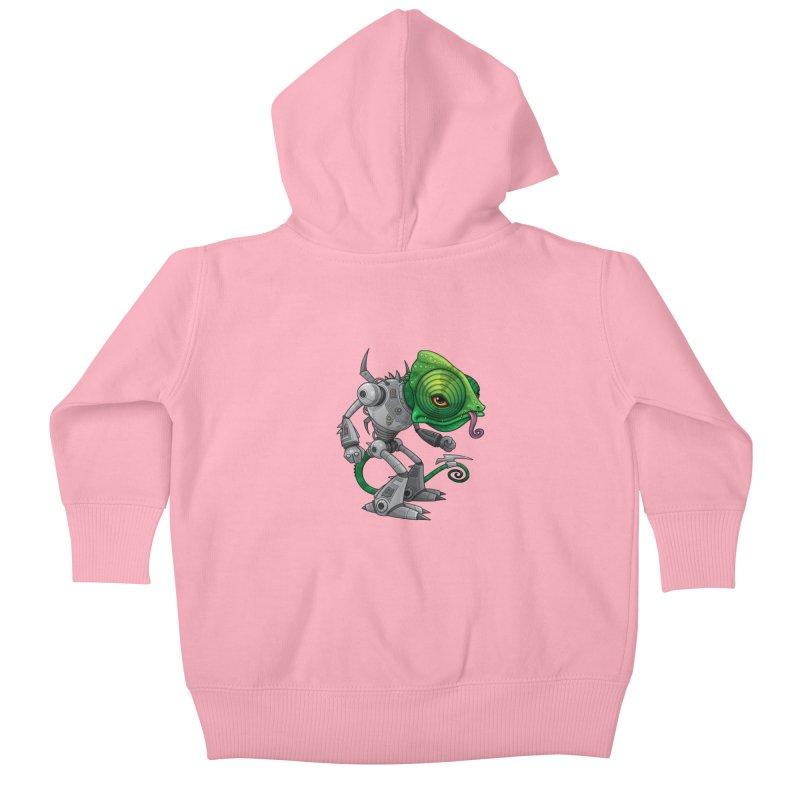 Chameleozoid Kids Baby Zip-Up Hoody by Fizzgig's Artist Shop