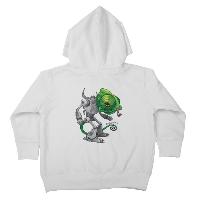 Chameleozoid Kids Toddler Zip-Up Hoody by Fizzgig's Artist Shop