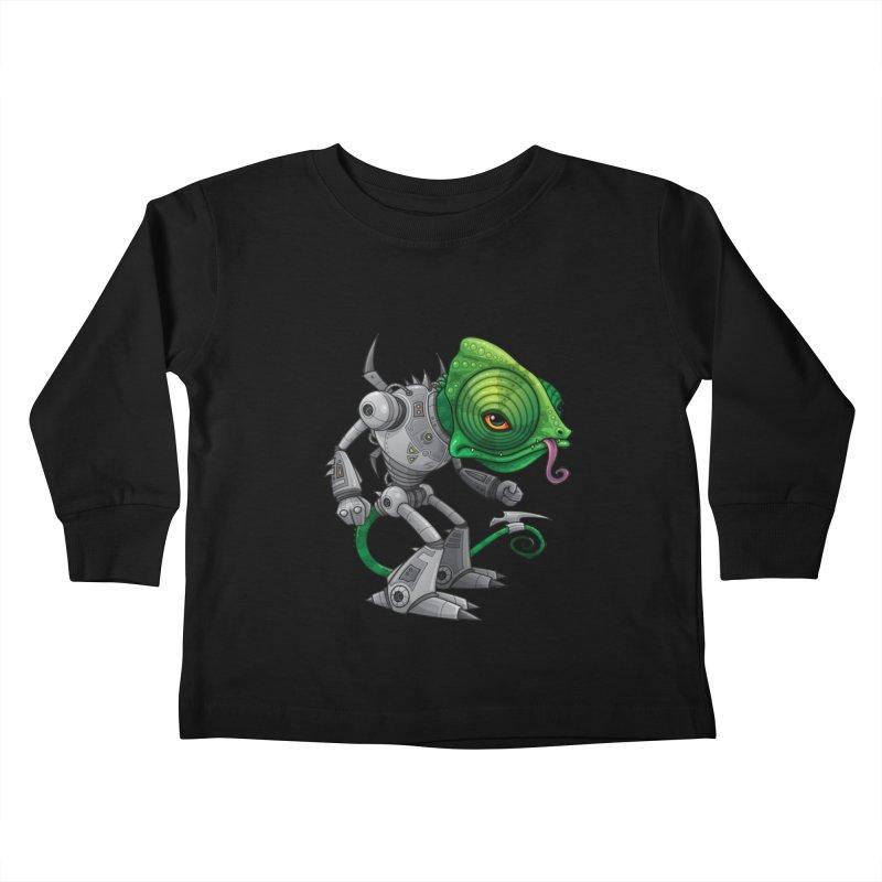 Chameleozoid Kids Toddler Longsleeve T-Shirt by Fizzgig's Artist Shop