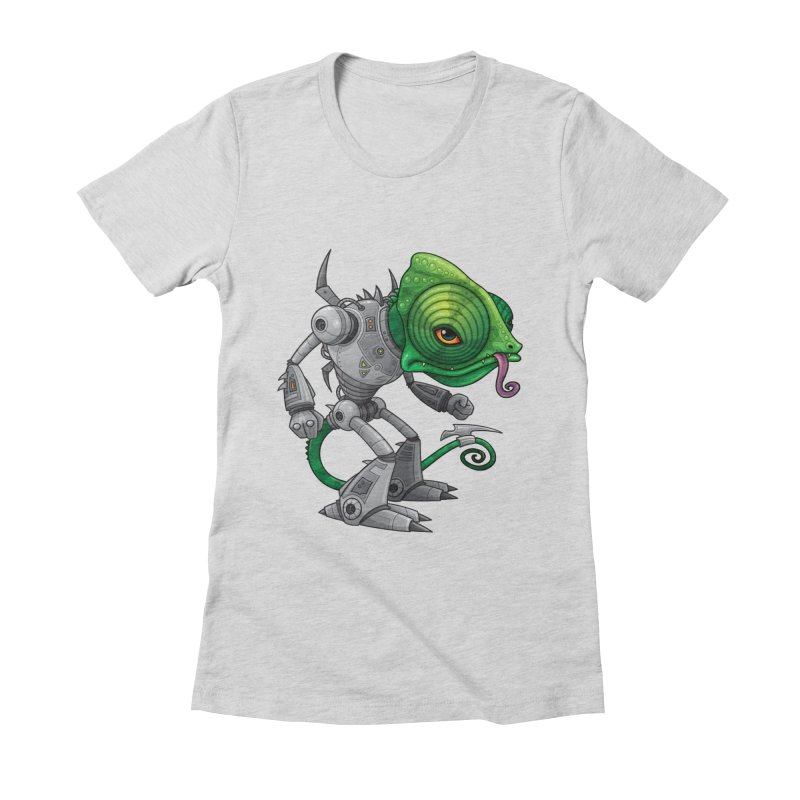 Chameleozoid Women's Fitted T-Shirt by Fizzgig's Artist Shop
