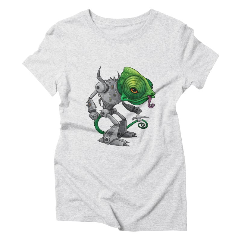 Chameleozoid Women's Triblend T-Shirt by Fizzgig's Artist Shop
