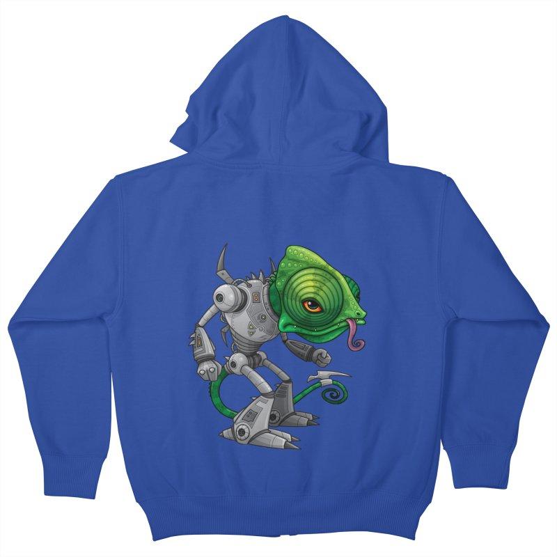 Chameleozoid Kids Zip-Up Hoody by Fizzgig's Artist Shop
