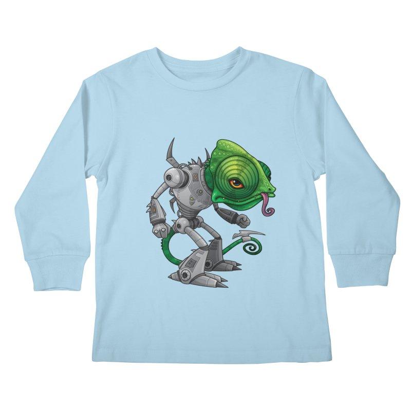 Chameleozoid Kids Longsleeve T-Shirt by Fizzgig's Artist Shop