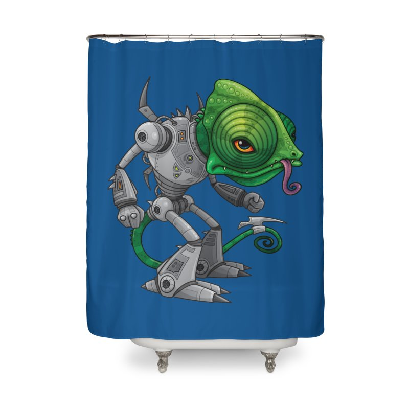 Chameleozoid Home Shower Curtain by Fizzgig's Artist Shop