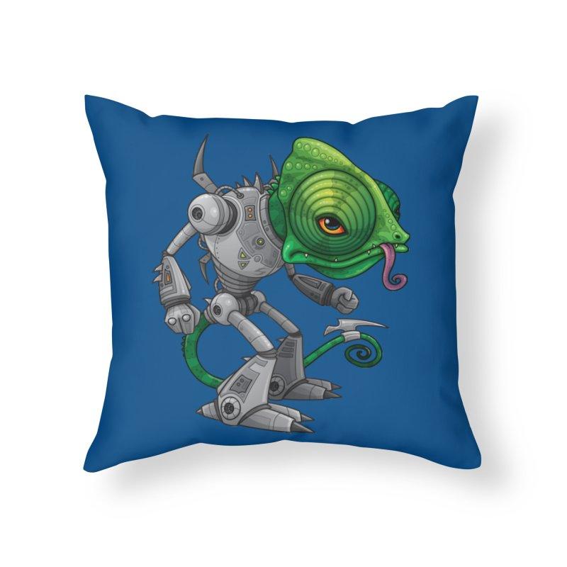 Chameleozoid Home Throw Pillow by Fizzgig's Artist Shop