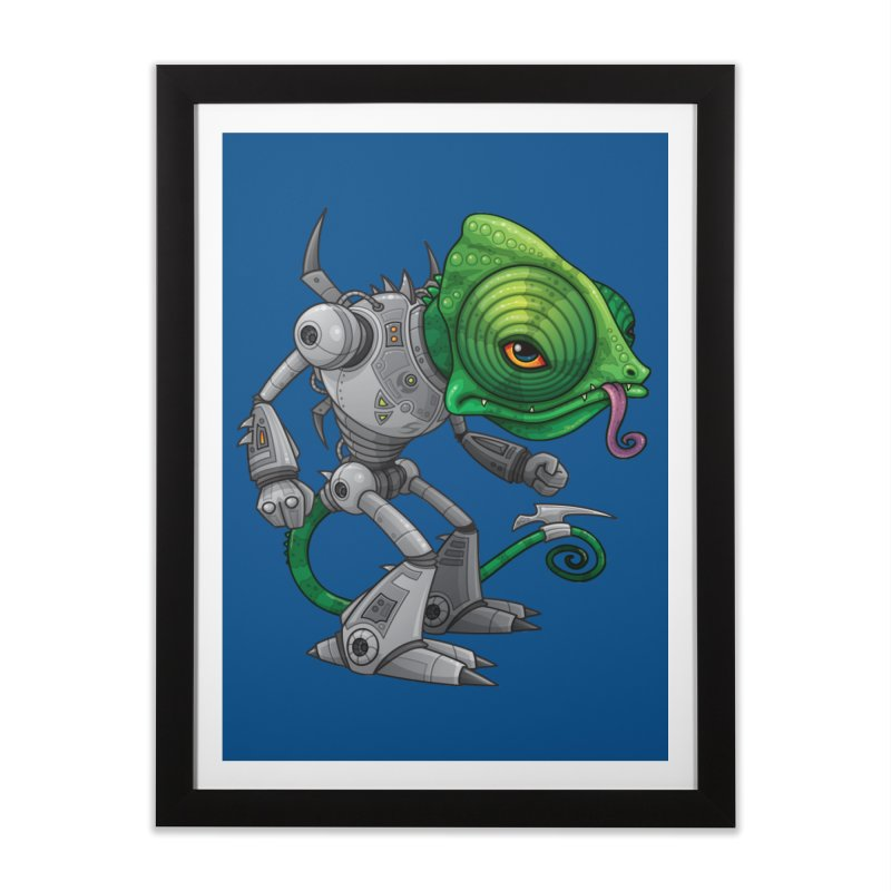 Chameleozoid Home Framed Fine Art Print by Fizzgig's Artist Shop