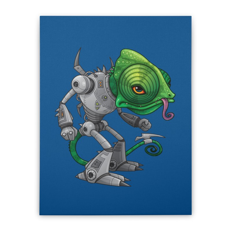 Chameleozoid Home Stretched Canvas by Fizzgig's Artist Shop
