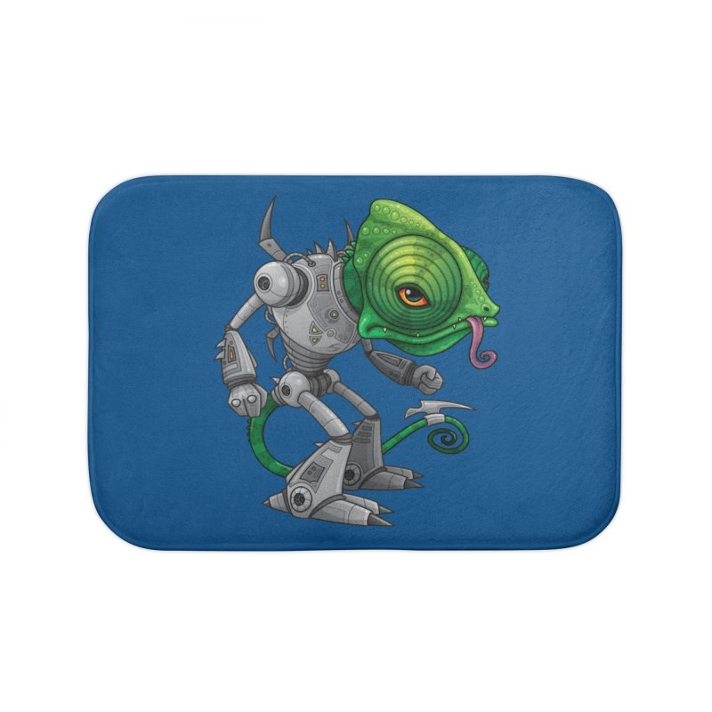 Chameleozoid Home Bath Mat by Fizzgig's Artist Shop