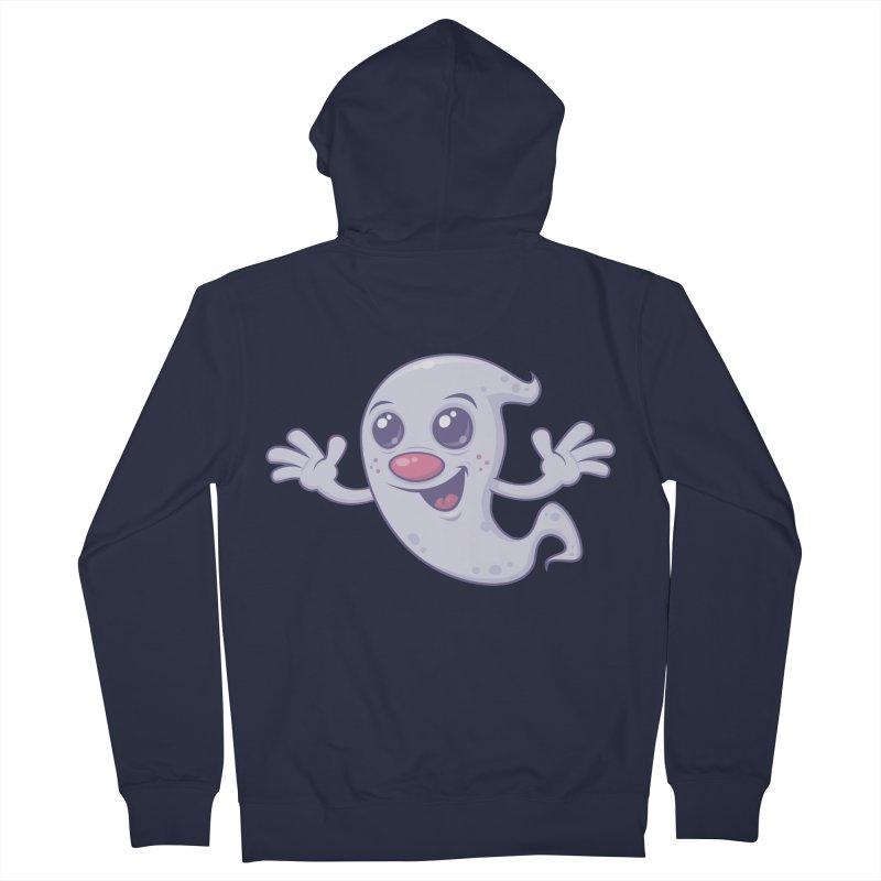 Cute Retro Ghost Women's Zip-Up Hoody by Fizzgig's Artist Shop