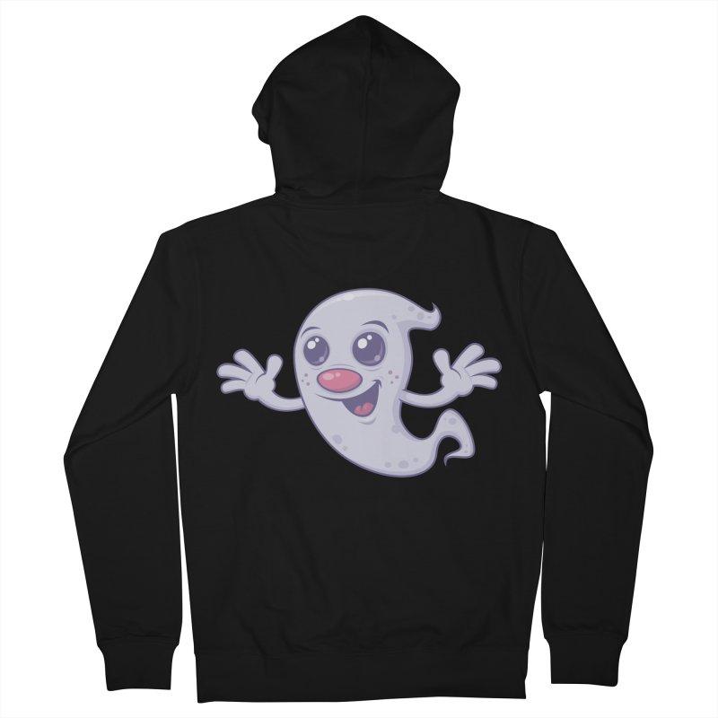 Cute Retro Ghost Men's Zip-Up Hoody by Fizzgig's Artist Shop