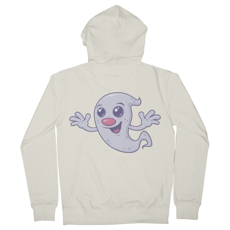 Cute Retro Ghost Men's Zip-Up Hoody by Fizzgig's Artist Shop