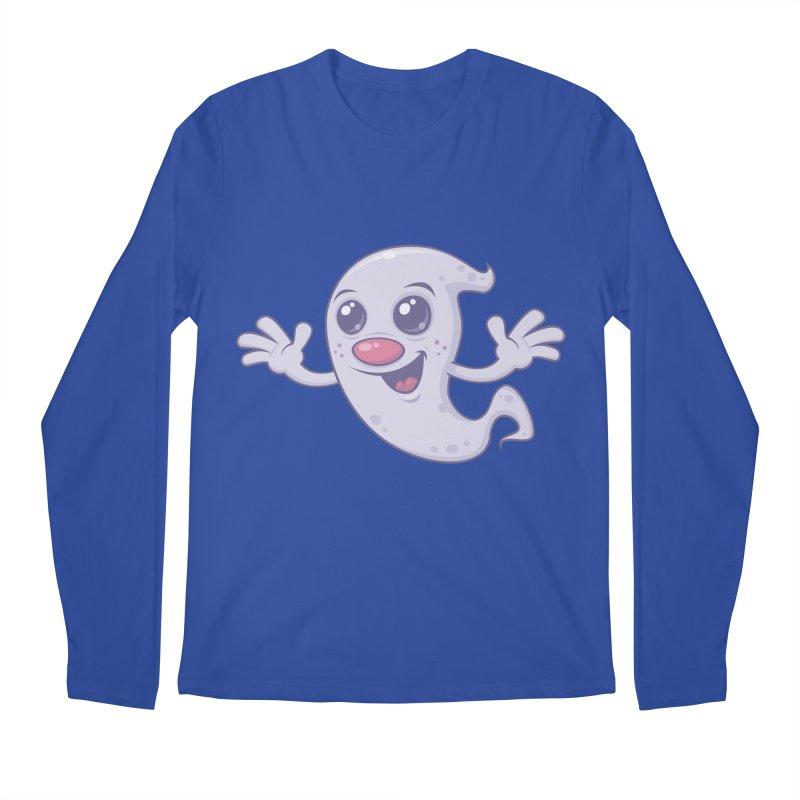 Cute Retro Ghost Men's Longsleeve T-Shirt by Fizzgig's Artist Shop