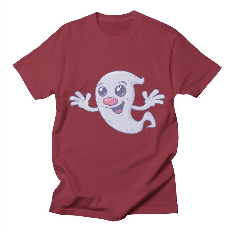 Cute Retro Ghost Men's T-shirt by Fizzgig's Artist Shop