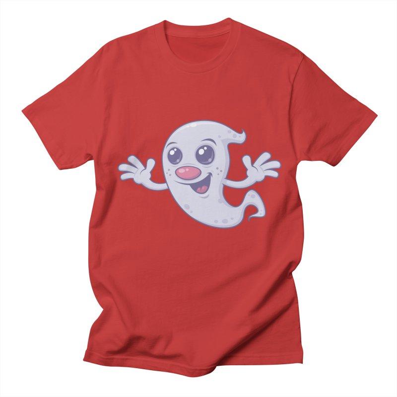 Cute Retro Ghost Women's Unisex T-Shirt by Fizzgig's Artist Shop
