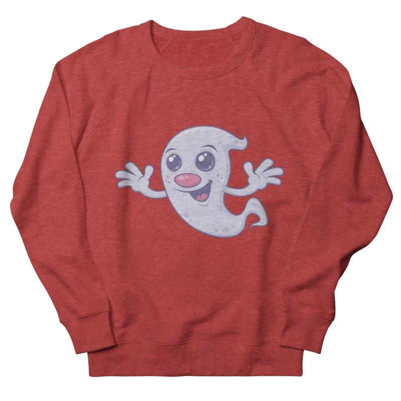 Cute Retro Ghost Women's Sweatshirt by Fizzgig's Artist Shop
