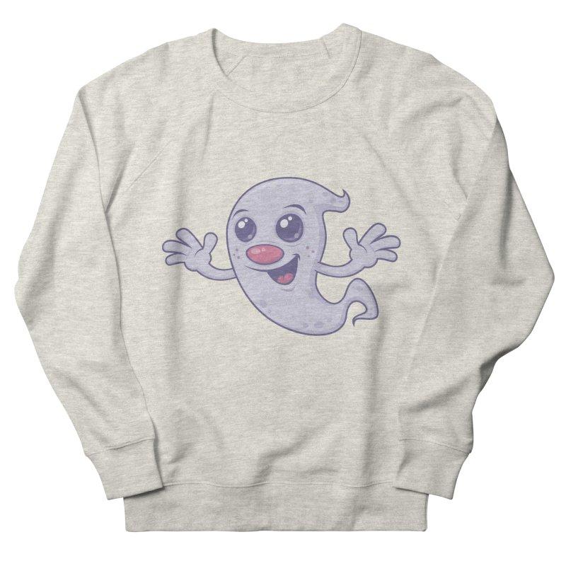 Cute Retro Ghost Men's Sweatshirt by Fizzgig's Artist Shop
