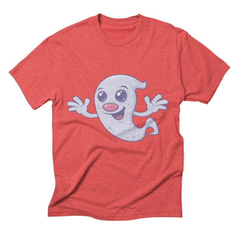 Cute Retro Ghost Men's Triblend T-Shirt by Fizzgig's Artist Shop