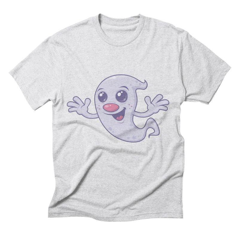 Cute Retro Ghost Men's Triblend T-shirt by Fizzgig's Artist Shop