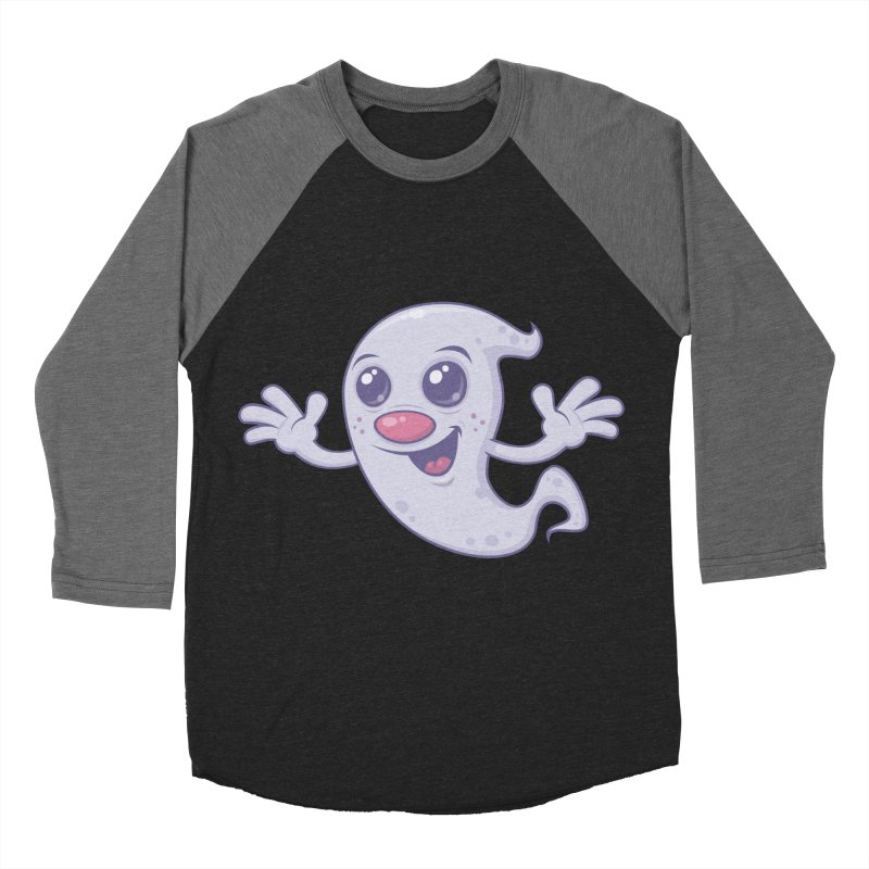 Cute Retro Ghost Women's Baseball Triblend T-Shirt by Fizzgig's Artist Shop