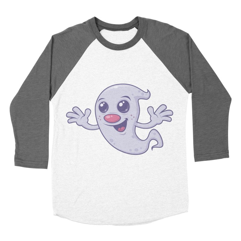 Cute Retro Ghost Men's Baseball Triblend T-Shirt by Fizzgig's Artist Shop