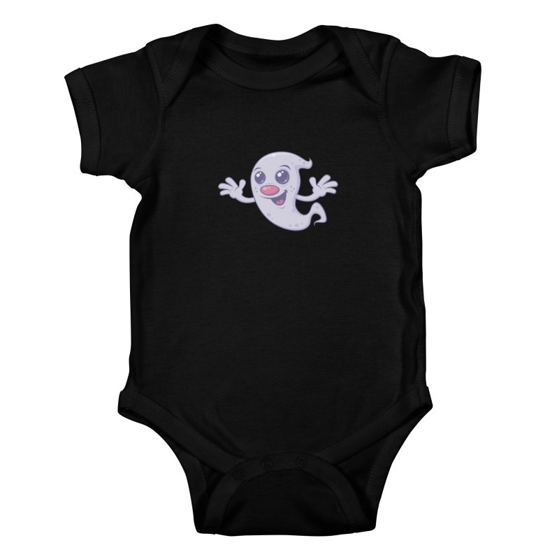 Cute Retro Ghost Kids Baby Bodysuit by Fizzgig's Artist Shop