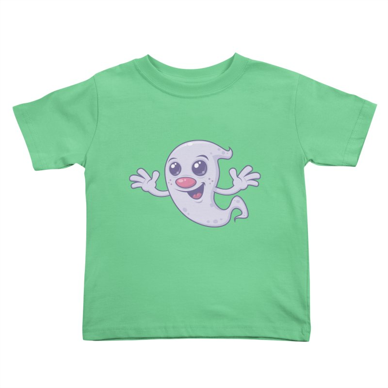 Cute Retro Ghost Kids Toddler T-Shirt by Fizzgig's Artist Shop