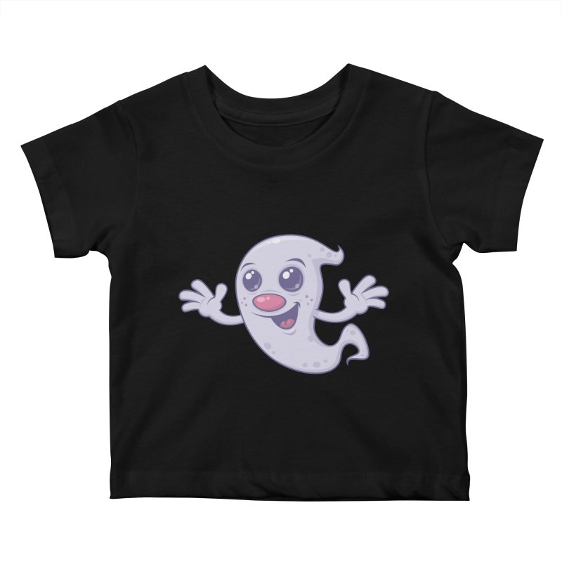 Cute Retro Ghost Kids Baby T-Shirt by Fizzgig's Artist Shop