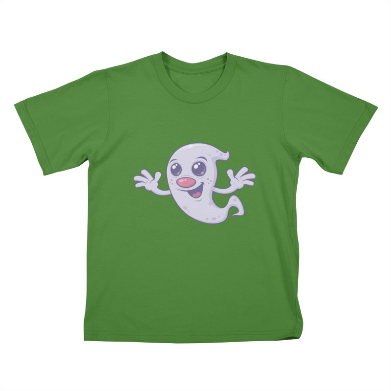 Cute Retro Ghost Kids T-shirt by Fizzgig's Artist Shop