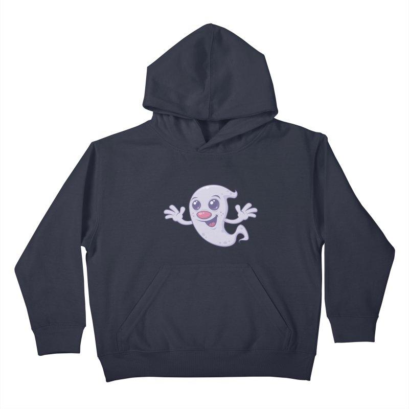 Cute Retro Ghost Kids Pullover Hoody by Fizzgig's Artist Shop