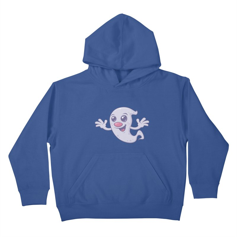 Cute Retro Ghost Kids Pullover Hoody by Fizzgig's Artist Shop