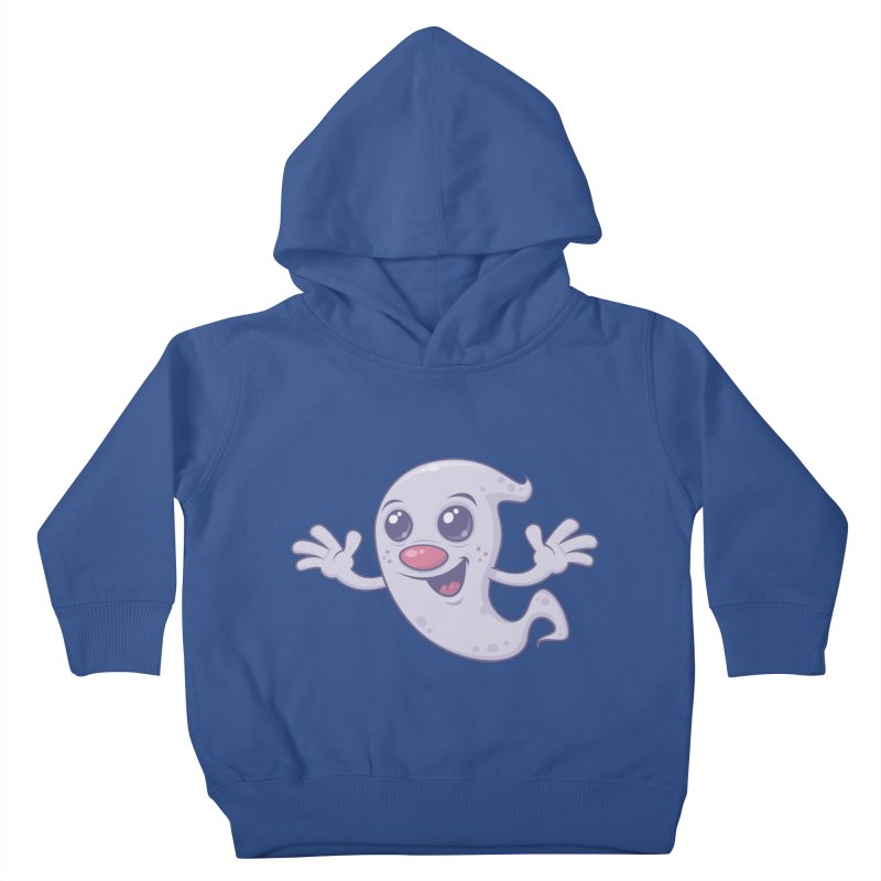 Cute Retro Ghost Kids Toddler Pullover Hoody by Fizzgig's Artist Shop