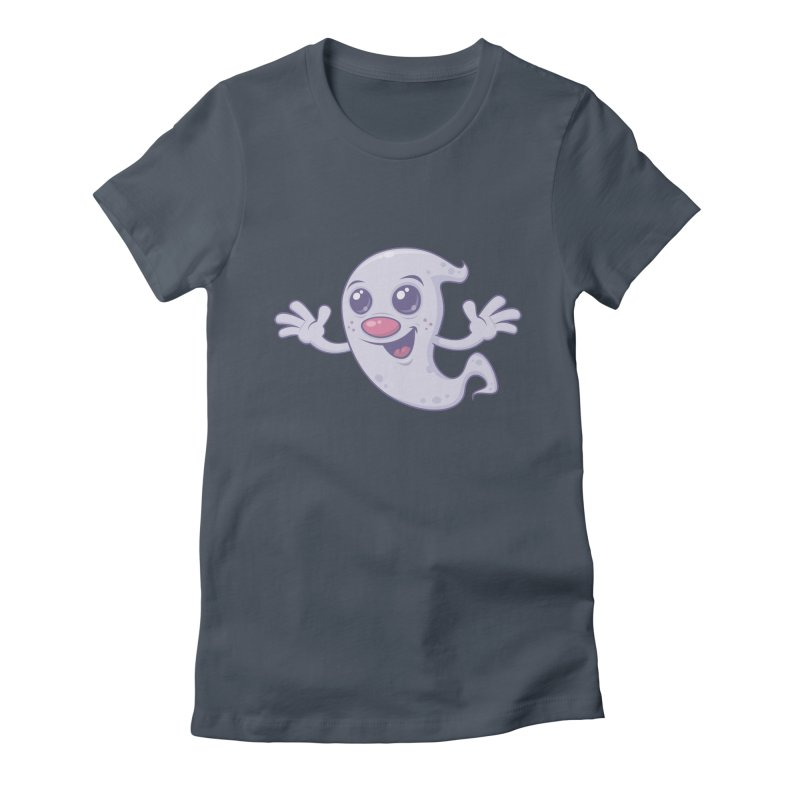 Cute Retro Ghost Women's Fitted T-Shirt by Fizzgig's Artist Shop