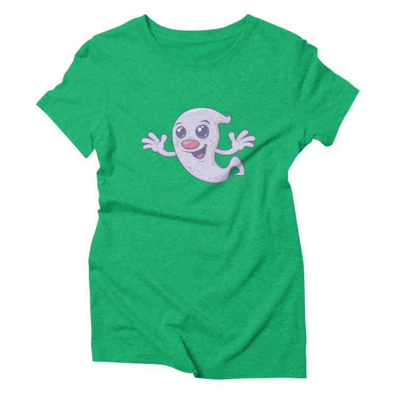 Cute Retro Ghost Women's Triblend T-Shirt by Fizzgig's Artist Shop
