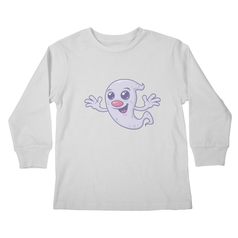 Cute Retro Ghost Kids Longsleeve T-Shirt by Fizzgig's Artist Shop