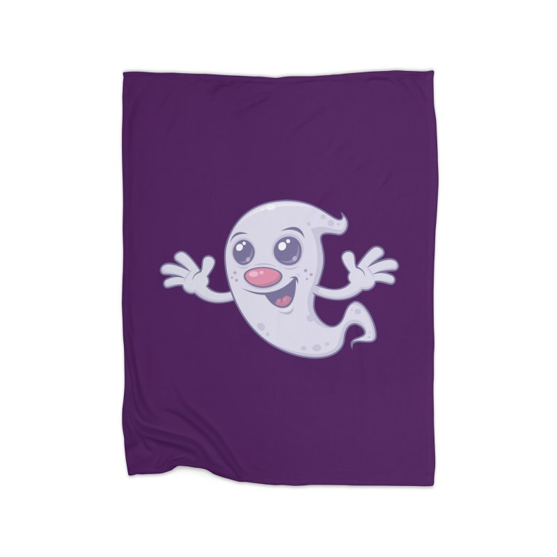 Cute Retro Ghost Home Blanket by Fizzgig's Artist Shop