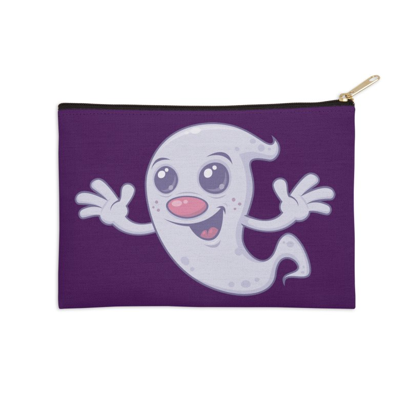 Cute Retro Ghost Accessories Zip Pouch by Fizzgig's Artist Shop