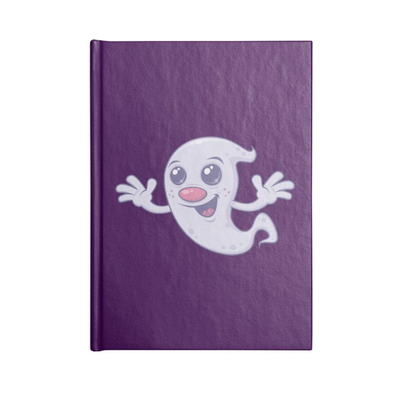 Cute Retro Ghost Accessories Notebook by Fizzgig's Artist Shop