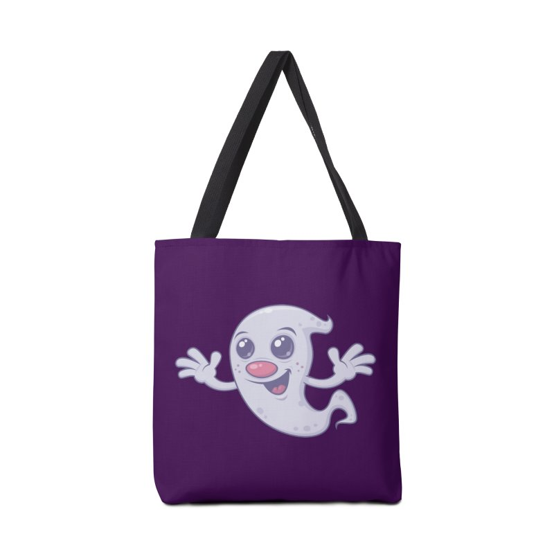 Cute Retro Ghost Accessories Bag by Fizzgig's Artist Shop