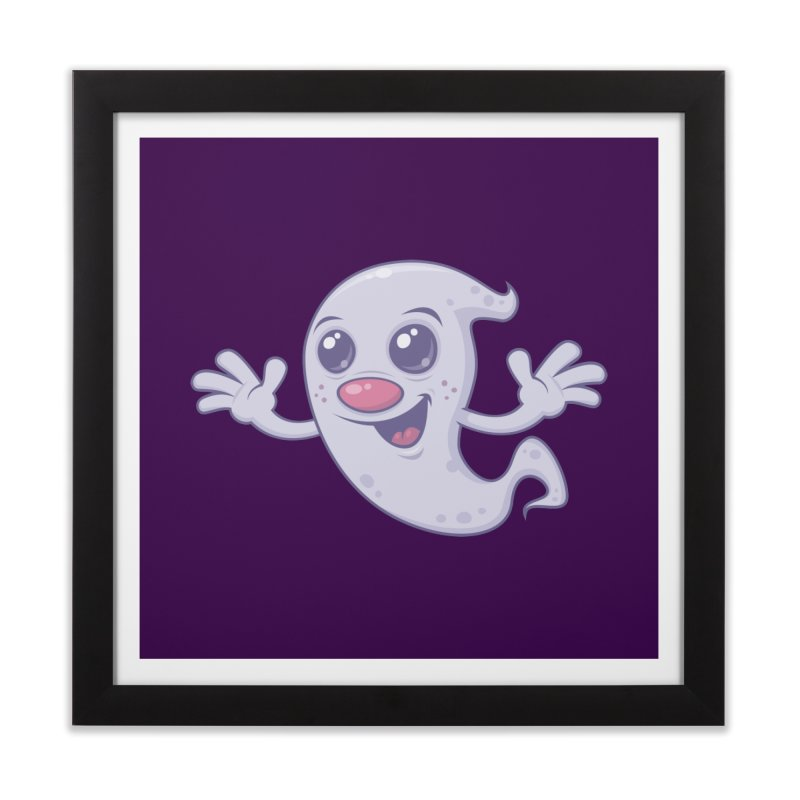 Cute Retro Ghost Home Framed Fine Art Print by Fizzgig's Artist Shop
