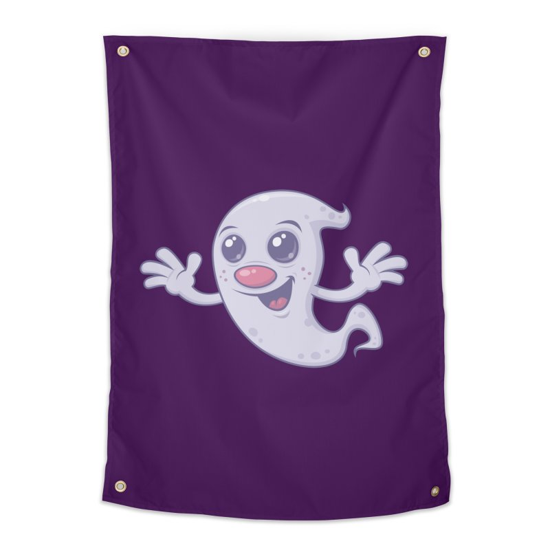 Cute Retro Ghost Home Tapestry by Fizzgig's Artist Shop