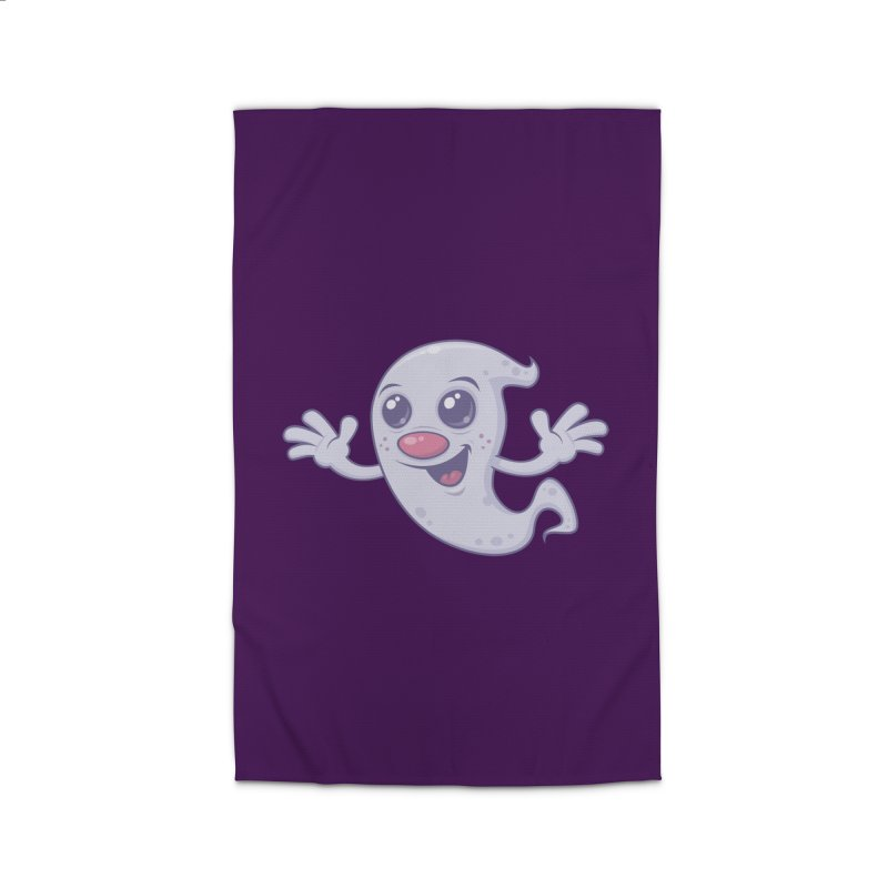 Cute Retro Ghost Home Rug by Fizzgig's Artist Shop