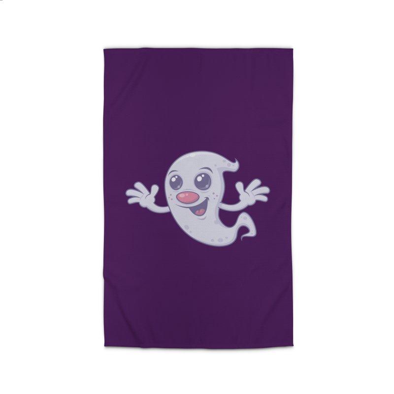 Cute Retro Ghost Home Rug by Fizzgig's Artist Shop