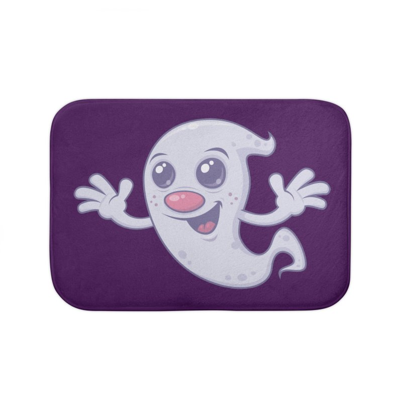 Cute Retro Ghost Home Bath Mat by Fizzgig's Artist Shop