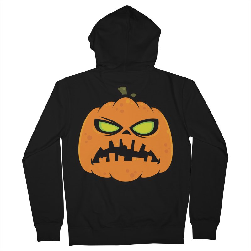 Pumpkin Zombie Men's Zip-Up Hoody by Fizzgig's Artist Shop