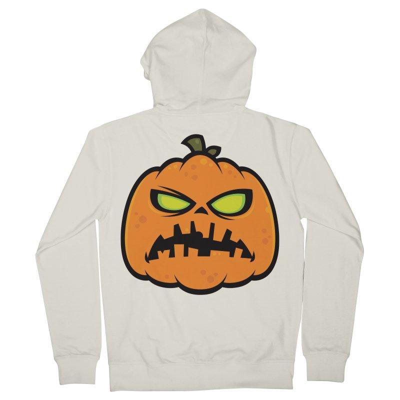 Pumpkin Zombie Men's Zip-Up Hoody by Fizzgig's Artist Shop