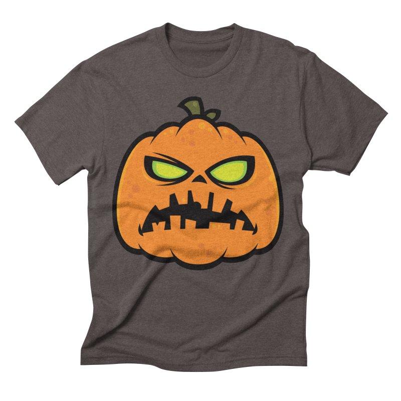 Pumpkin Zombie Men's Triblend T-shirt by Fizzgig's Artist Shop