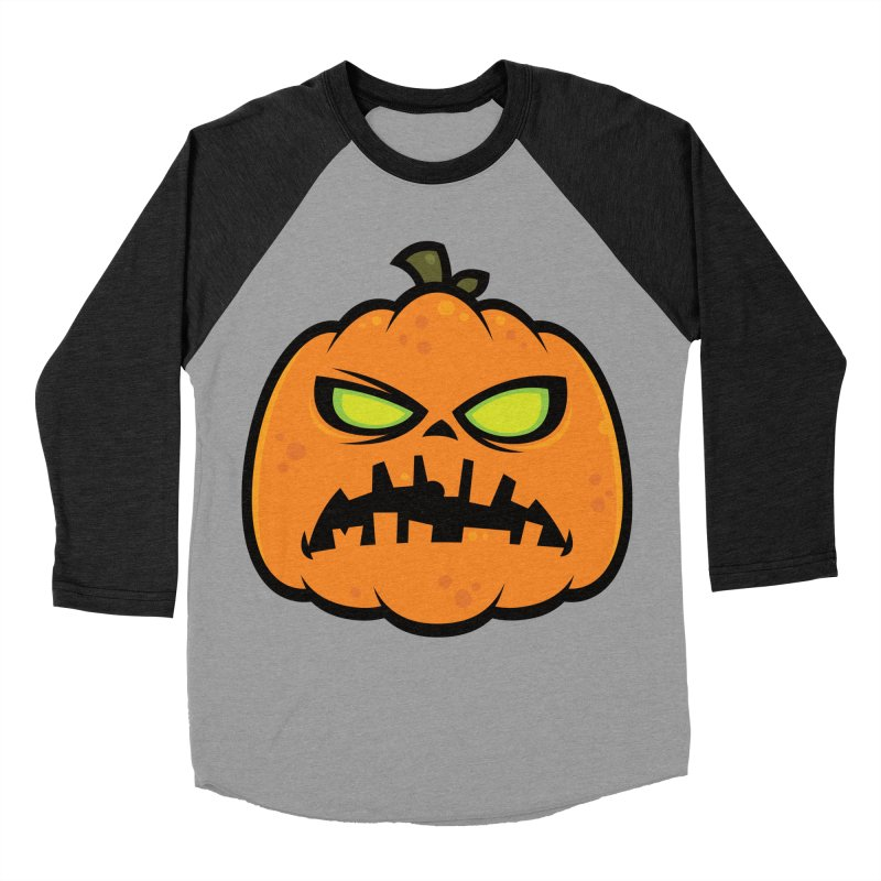Pumpkin Zombie Women's Baseball Triblend T-Shirt by Fizzgig's Artist Shop