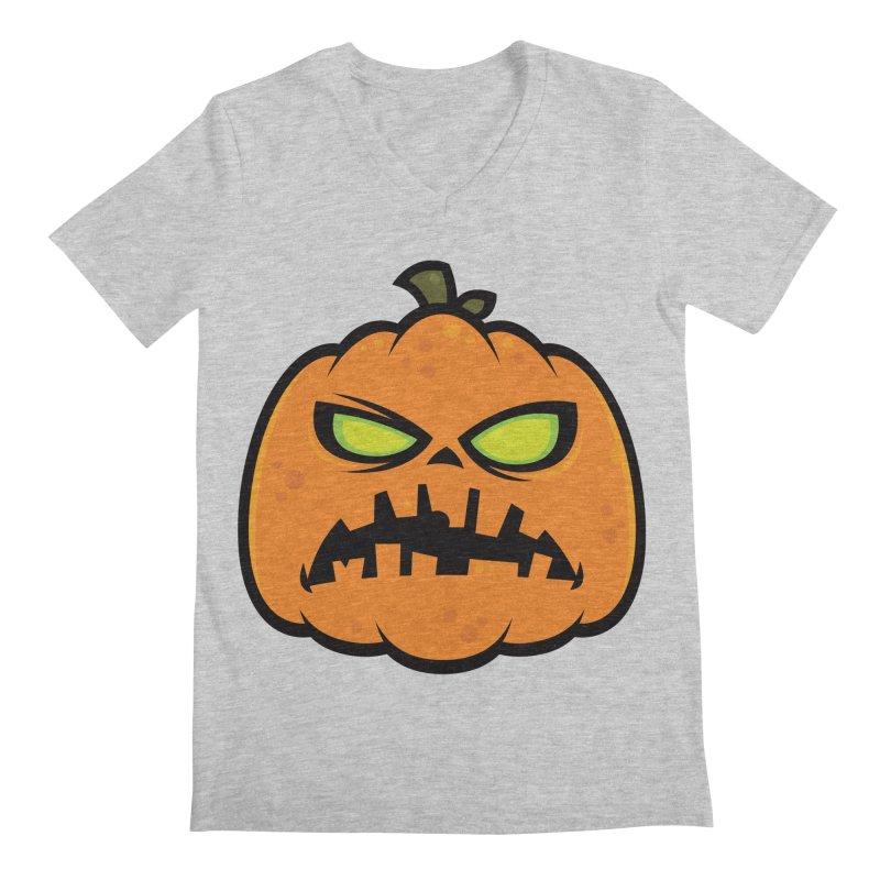 Pumpkin Zombie Men's V-Neck by Fizzgig's Artist Shop