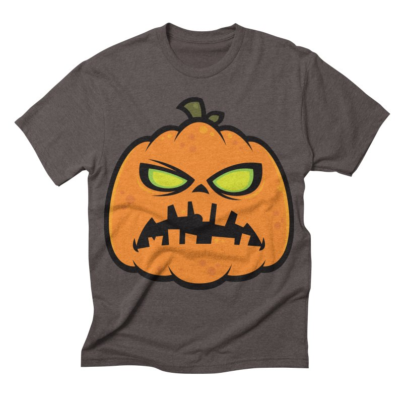 Pumpkin Zombie Men's Triblend T-shirt by Fizzgig's Artist Shop