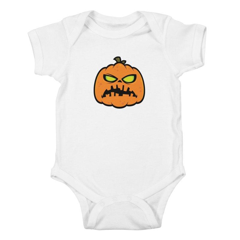 Pumpkin Zombie Kids Baby Bodysuit by Fizzgig's Artist Shop